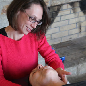 Dr. Stacy Kitchel treating a patient