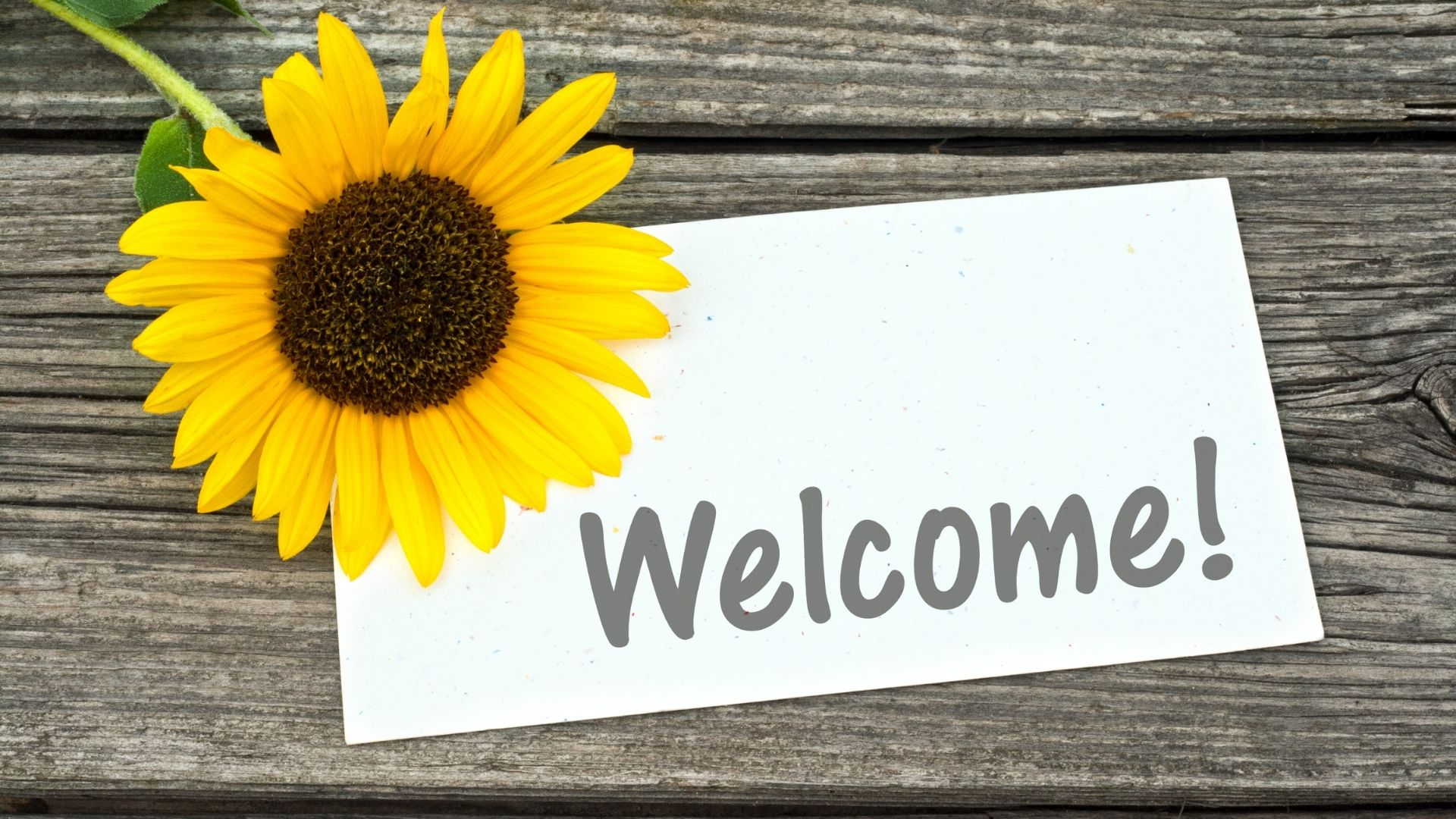 Welcome sign for new patients